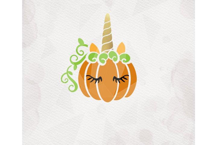 Unicorn Pumpkin SVG Pumpkin svg Cricut Silhouette pdf png dx