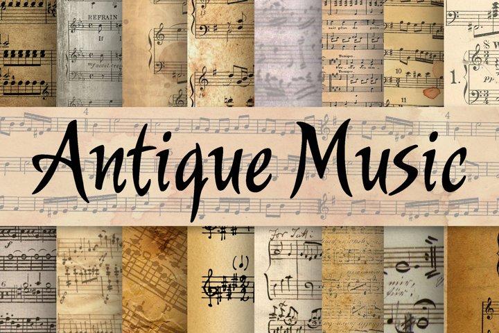 Antique Music Digital Paper - Free Design of The Week Font