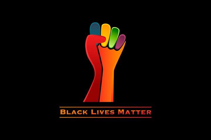 Black Lives Matter logo, raised fist