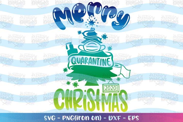 Christmas svg Merry Quarantine Christmas