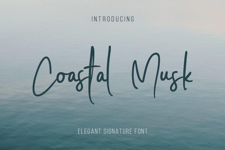 Coastal Musk | Elegant Signature Font
