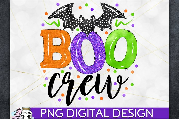 Boo Crew Halloween PNG Sublimation Design