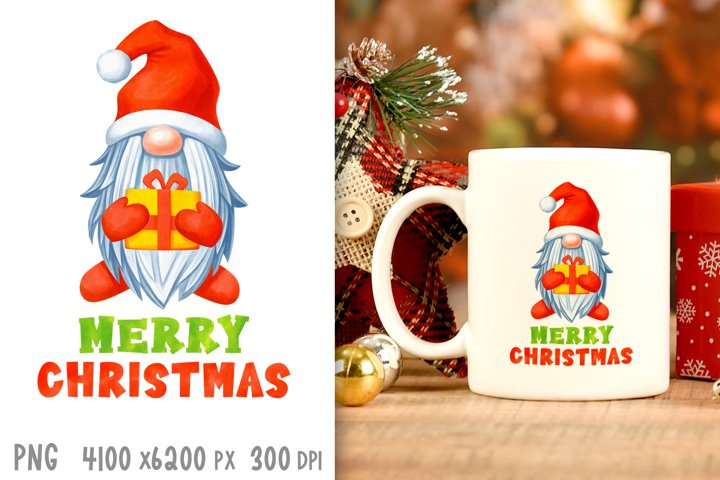 Christmas sublimation designs Christmas gnome png Xmas print