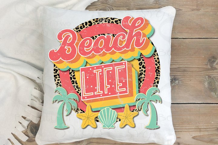 Sublimation Beach Life png Retro png Beach Ocean Love png