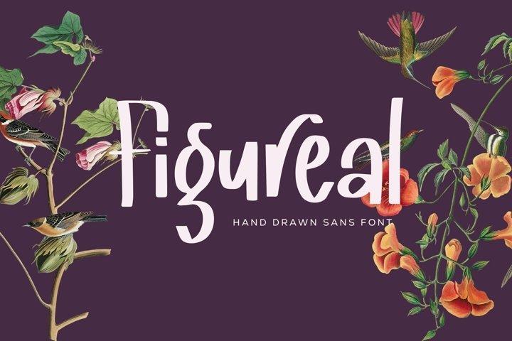 Web Font Figureal - Hand Drawn Sans Font