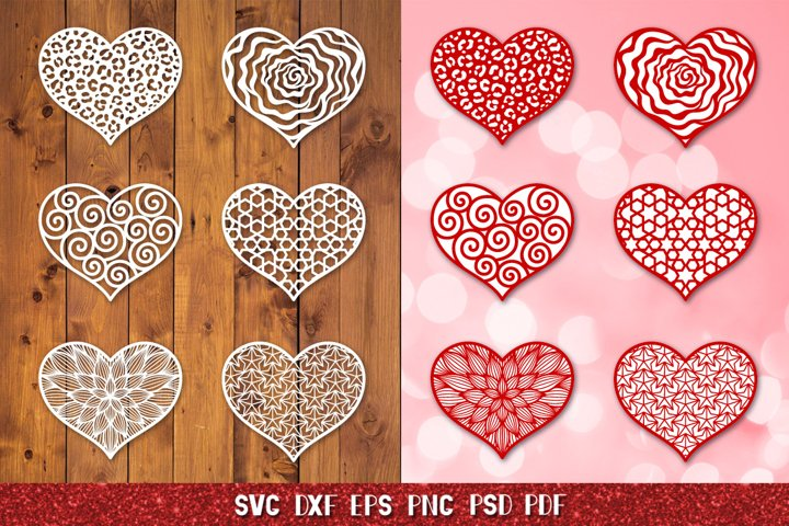 Valentines SVG,Heart SVG,Heart Paper and Laser Cut Template