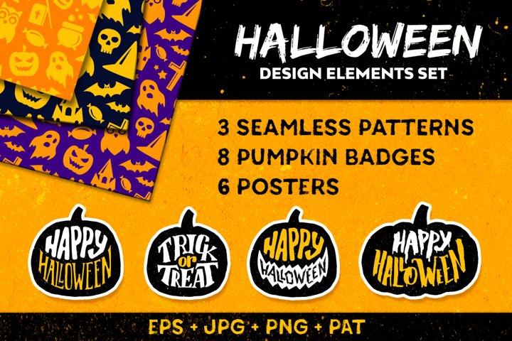 Halloween decorative elements