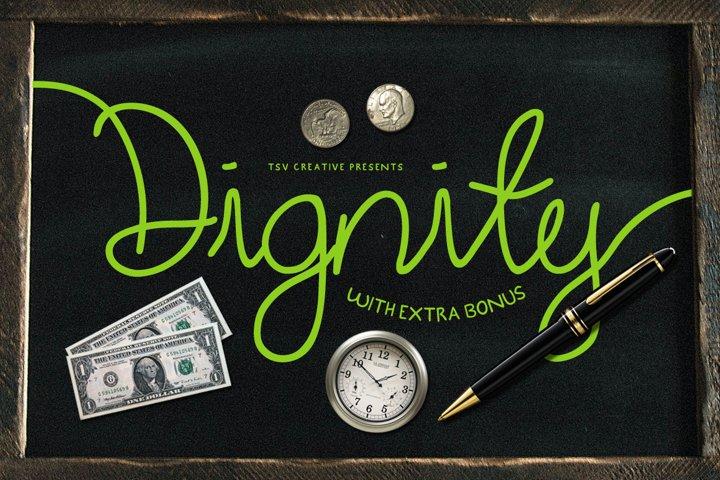 Dignity Cursive + Bonus