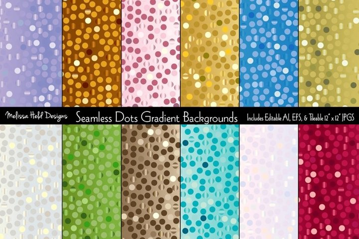 Seamless Dots Gradient Backgrounds