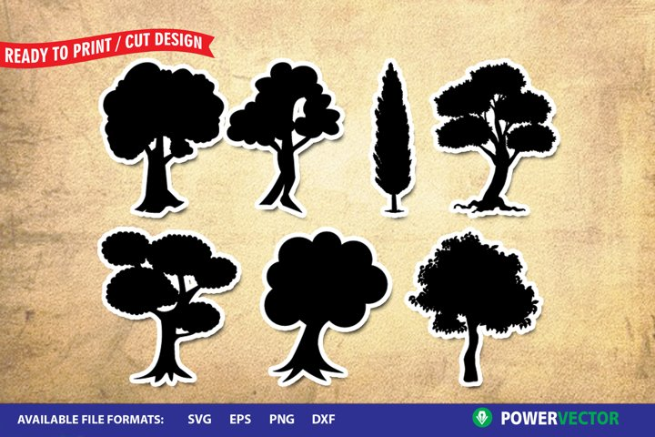 Forest Trees SVG Files for Crafters