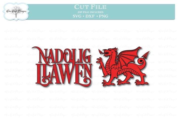 Nadolig Llawen with Dragon - Welsh Happy Christmas