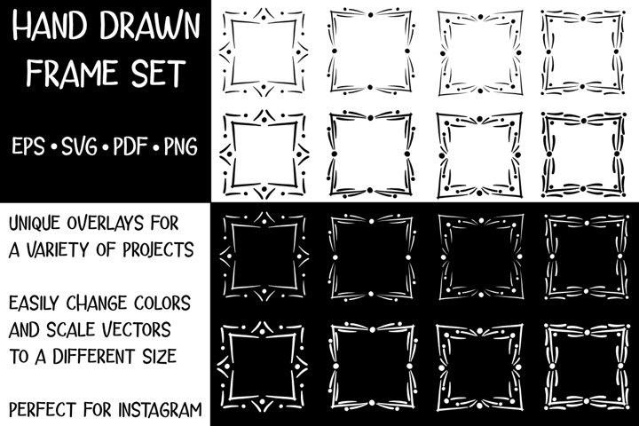 Hand Drawn Dot Frames