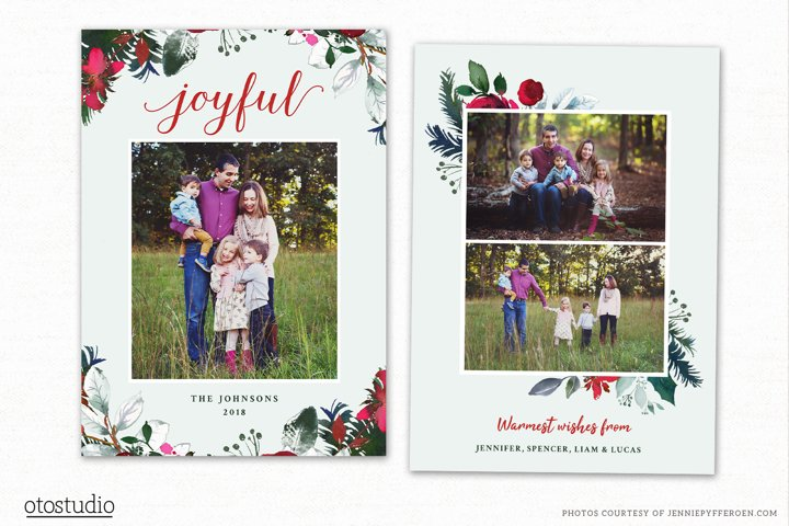 Christmas Card Template for Photographers CC198