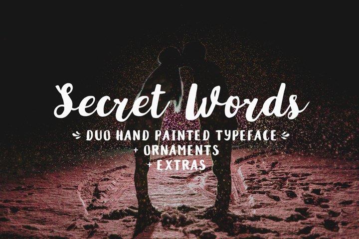 Secret Words Font Duo Bonus