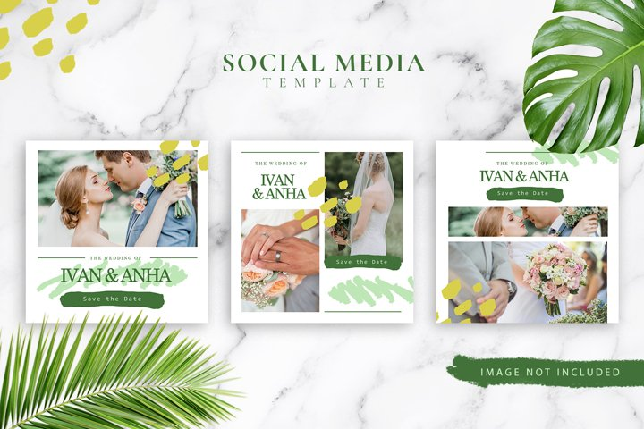 Wedding Social Media Template Bundle