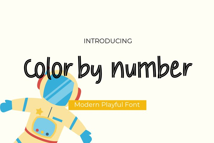 Color by number playful font