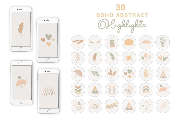 Abstract Boho Instagram Highlights   Story Cover Icons