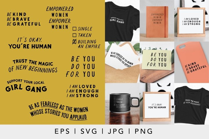 Female Empowerment SVG, EPS, JPG and PNG Bundle