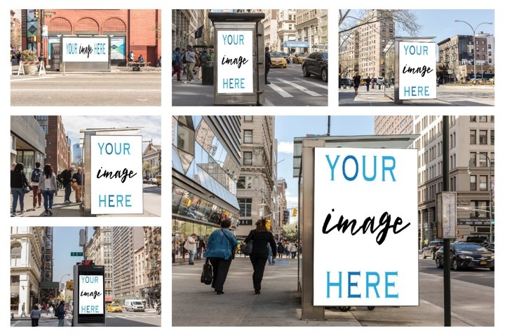 Set of 11 advertising billboard
