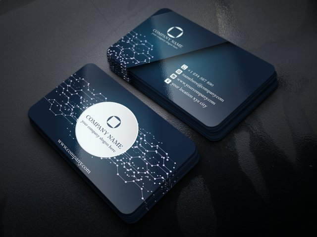 Abstract Business Card (with Electronic Circuit Touch)