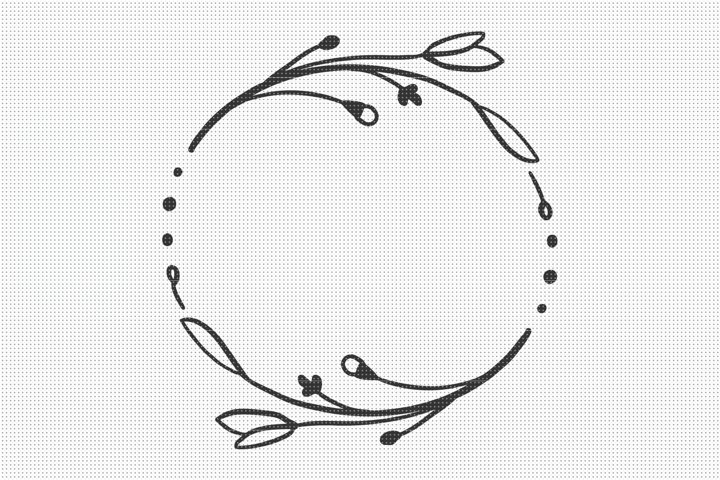 SVG Files, Floral Wreath SVG, Floral SVG File, SVG Cut Files
