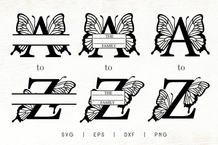 Butterfly Letters Monogram SVG Bundle