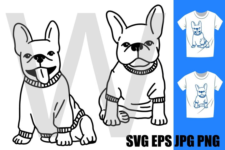 French Bulldog Set C - PNG SVG EPS PNG