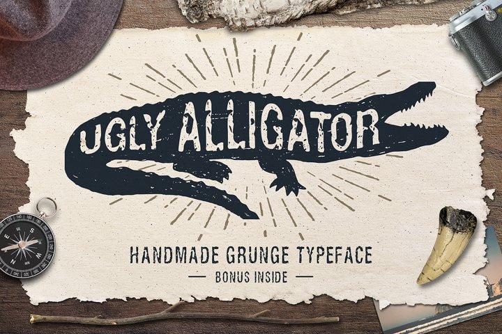 Ugly Alligator - Grunge Typeface - Free Font of The Week Font