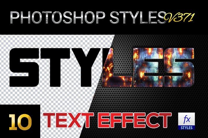 10 creative Unique Photoshop Styles V371