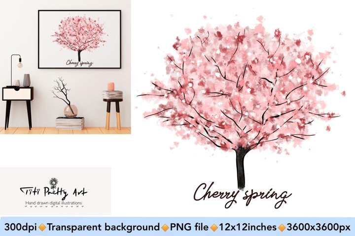 Cherry Blossom Tree PNG, Spring Is Here