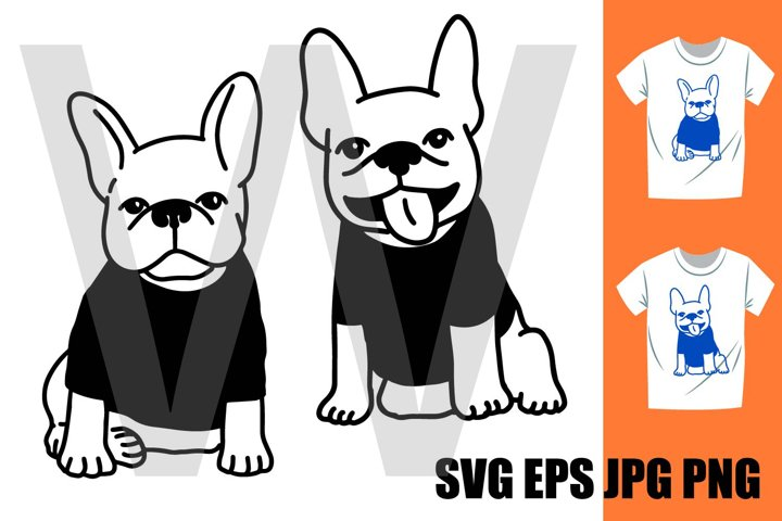 French Bulldog Set A - PNG SVG EPS PNG
