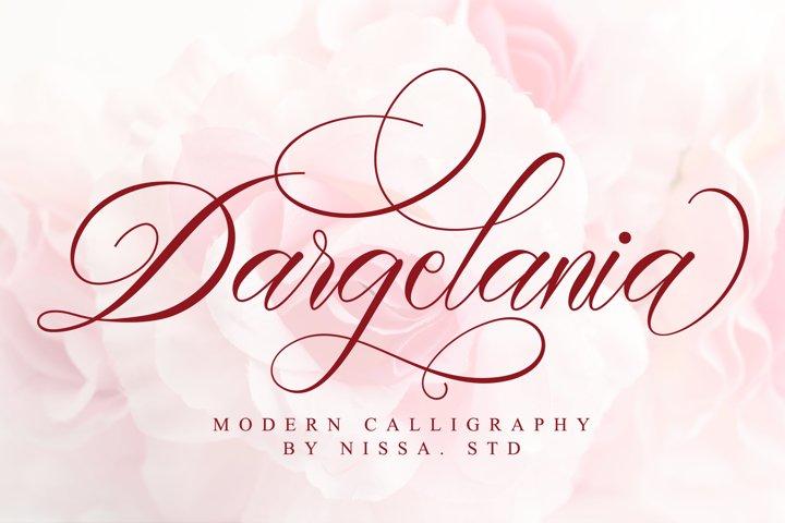 Dargelania - Romantic Calligraphy Font