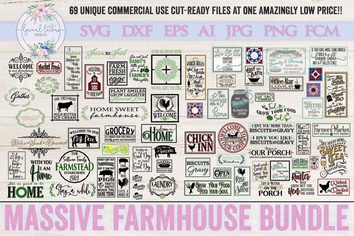 Farmhouse Bundle of 69 SVG DXF Cut Files