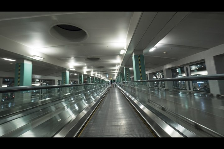 Moving walkway in the airport of Seoul