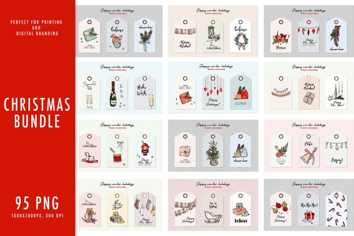 Christmas Sublimation Bundle, Christmas Sublimation Design