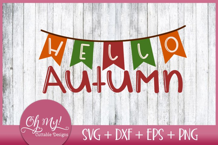 Hello Autumn SVG DXF EPS PNG