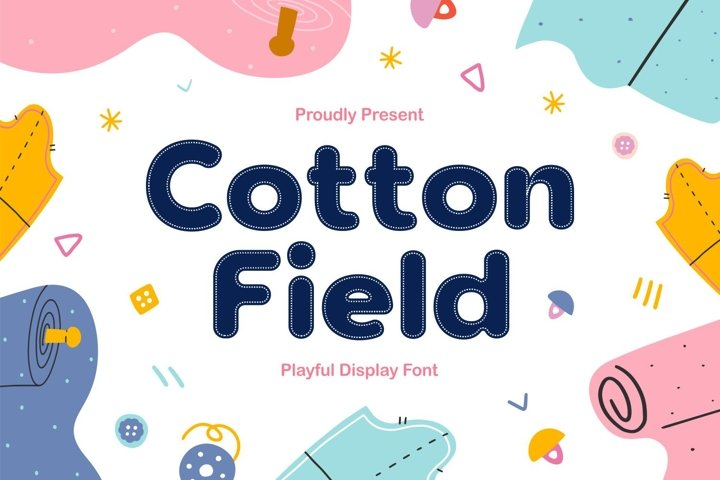 Cotton Field - Playful Display Font