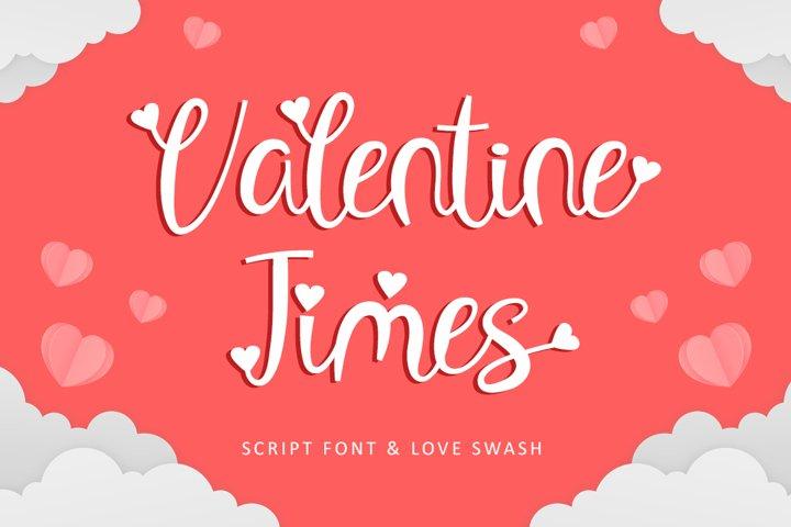 Valentine Times - Script Font & Love Swash