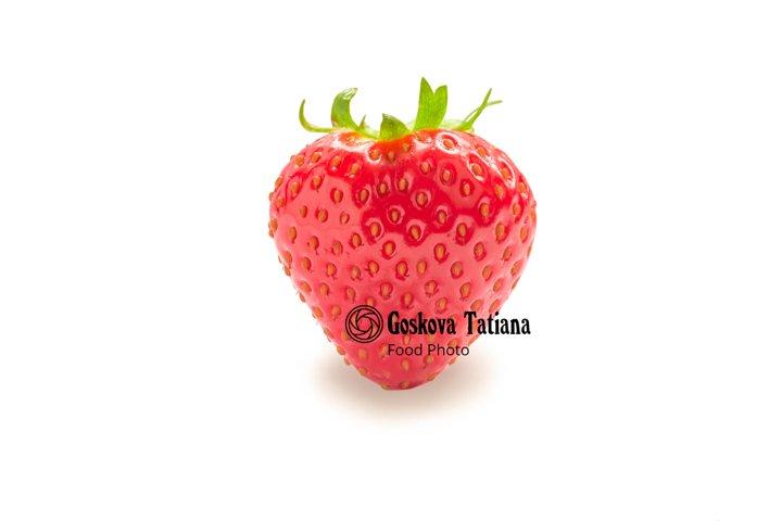 Photo of Fresh glossy strawberry isolated on white
