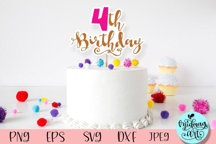4th birthday svg, birthday svg