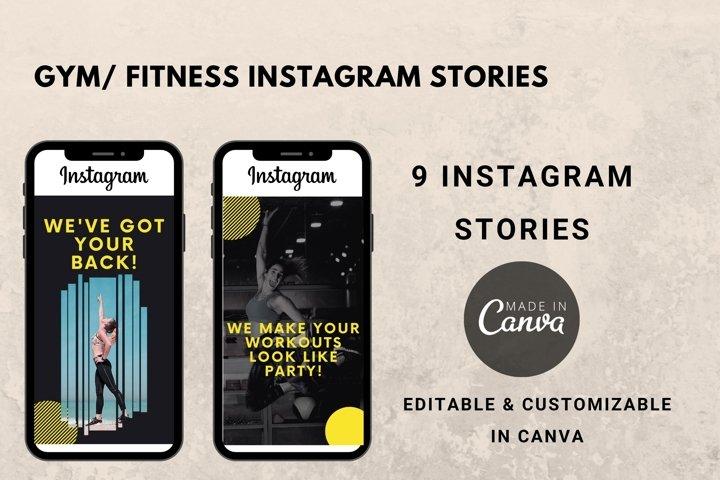 Instagram Story Template- Gym/ Fitness