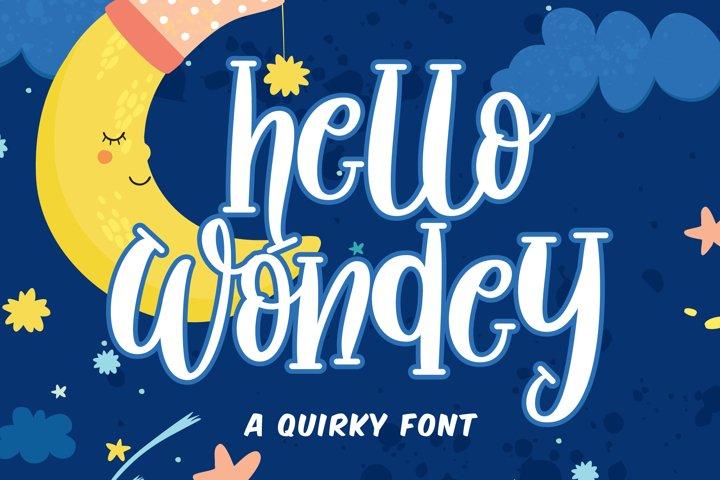 Hello Wondey