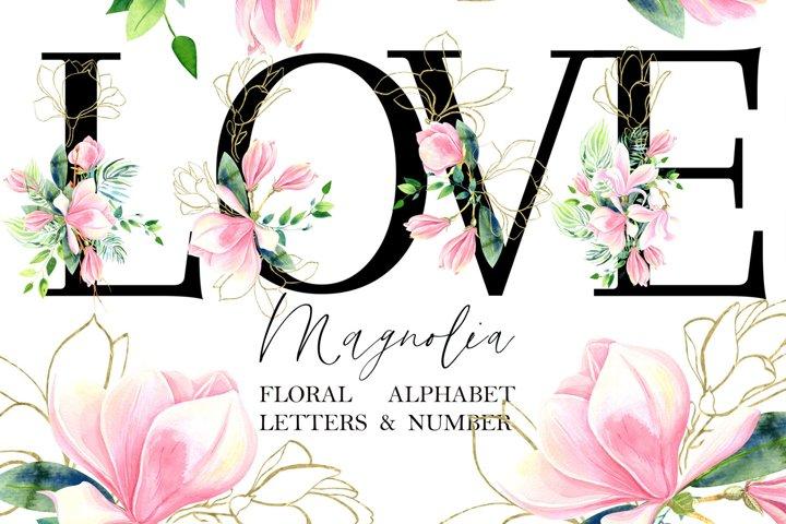 Magnolia Floral Alphabet