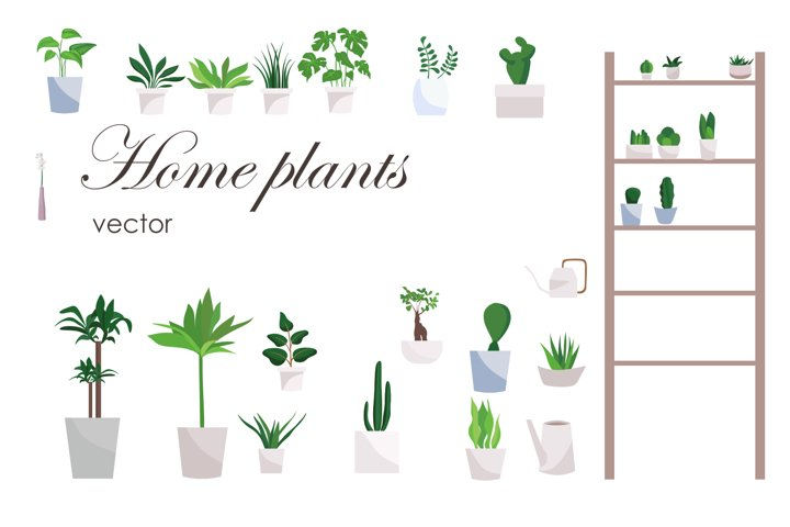 House Plants Clipart - Gardening Download