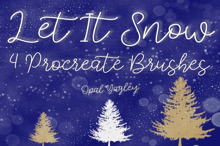 Snow Procreate Brushes / Let it Snow / Winter/ Christmas
