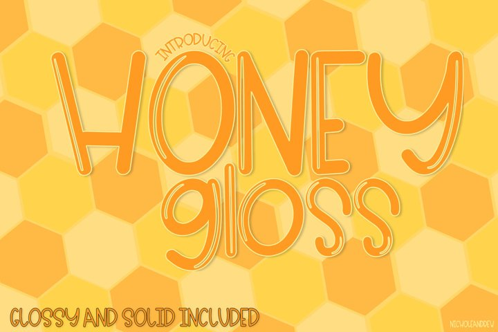 Honey Gloss - A Glossy & Solid Font Pair