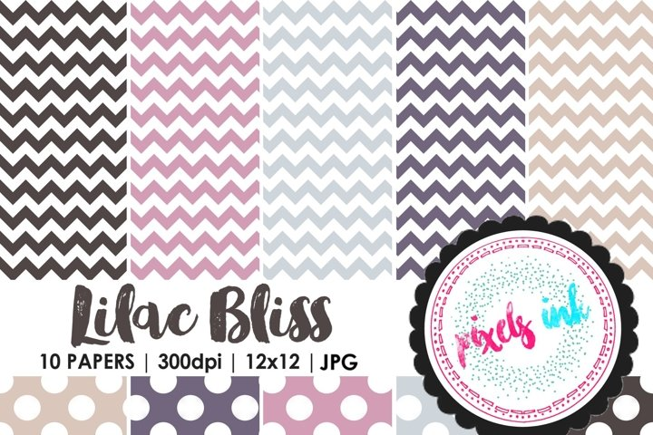 Chevron and Polkadot Digital Paper-Seamless