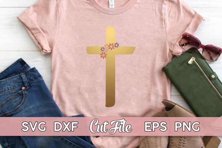 Cross SVG | Christian Faith cut file | church shirt for her