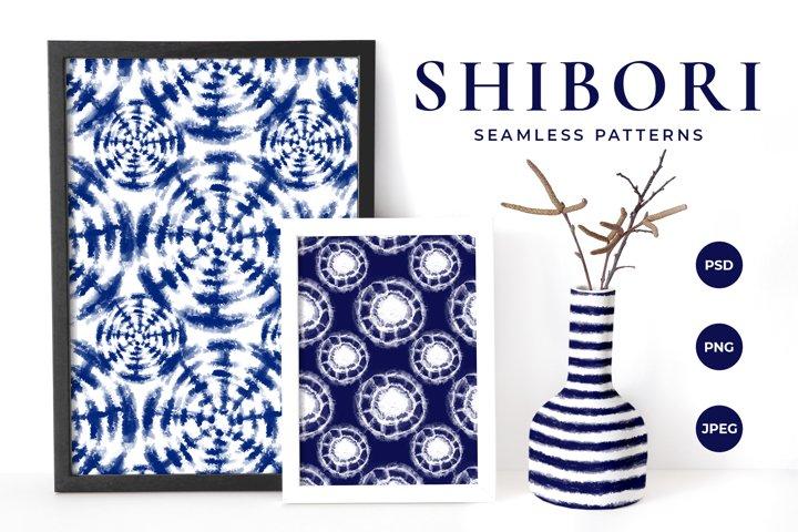 Shibori Tie Dye Seamless Patterns