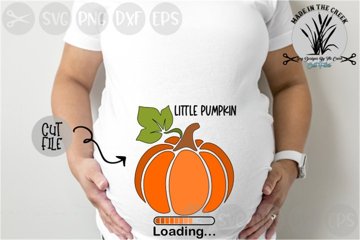 Little Pumpkin Loading Expecting, Baby, Cut File, SVG